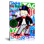 Tag Heuer x Monopoly Tableau en toile 40 x 60 cm / Chassis