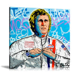Tag Heuer Steve McQueen Tableau en toile 40 x 40 cm / Chassis