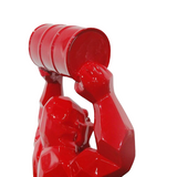 Wild Kong Barrel Red Sculpture et Statue