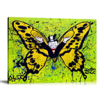Monopoly Butterfly Tableau en toile 40 x 60 cm / Chassis