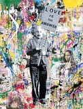 Albert Einstein Love Is The Answer Tableau en toile