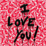 I Love You Fragile Tableau en toile