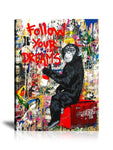 Follow Your Dreams Tableau en toile 30 x 40 cm
