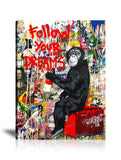 Follow Your Dreams Tableau en toile 40 x 60 cm / Chassis