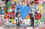 Charlie Chaplin & Albert Einstein Love Is The Answer Tableau en toile
