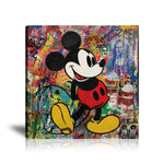 Mickey Mouse Bang Tableau en toile 40 x 40 cm / Chassis