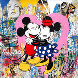 Mickey & Minnie Mouse Tableau en toile