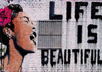 Billie Holiday Life Is Beautiful Tableau en toile