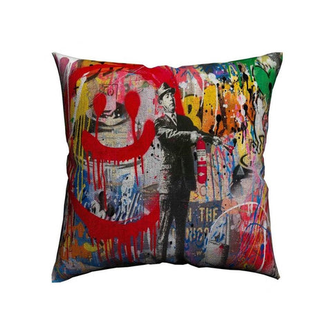 Spray Happiness Housse de coussin