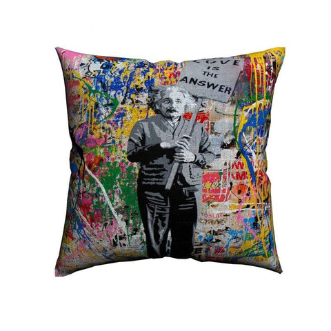 Einstein Love Is The Answer Housse de coussin