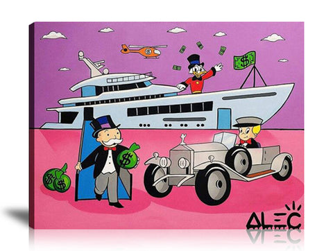 All about Luxury Tableau en toile 30 x 40 cm