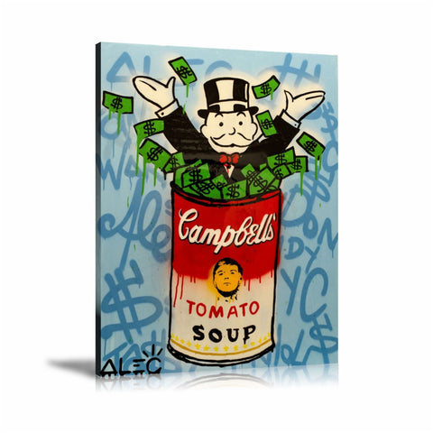 The Campbell's Tomato Soup Tableau en toile 40 x 60 cm / Chassis