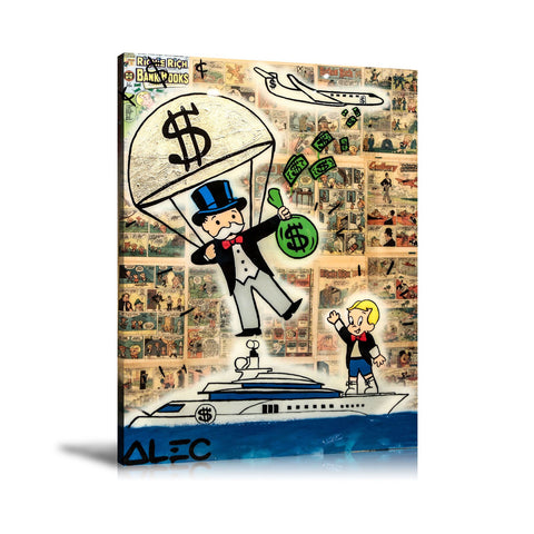 Monopoly Yachting Tableau en toile 40 x 60 cm / Chassis