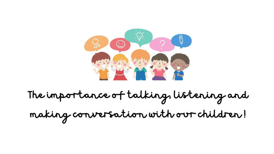 The importance of talking and listening to our children!