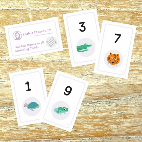 Number Bonds to 10 Matching Cards