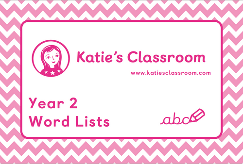 Pre-order Year 2 Word Lists