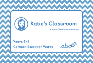 Years 3-4 Common Exception Words