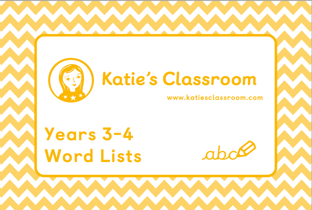 Pre-order Years 3-4 Word Lists