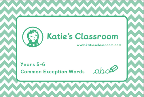 Pre-order Years 5-6 Common Exception Words