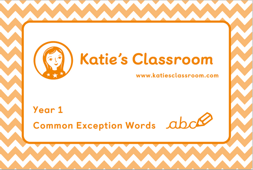 Pre-order Year 1 Common Exception Words