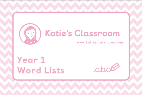 Pre-order Year 1 Word Lists
