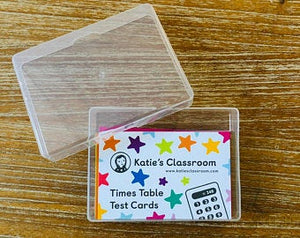 Times Table Test Cards