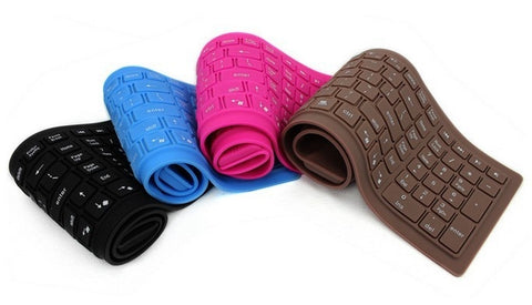 USB Flexible Silicone Slim Keyboard Dust and Moisture Proof 85 Keys