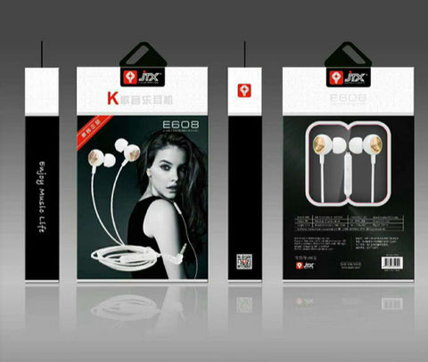 JTX Stereo Bass Earphones with Mic