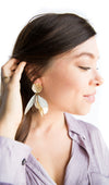 Feather Earbobs - White