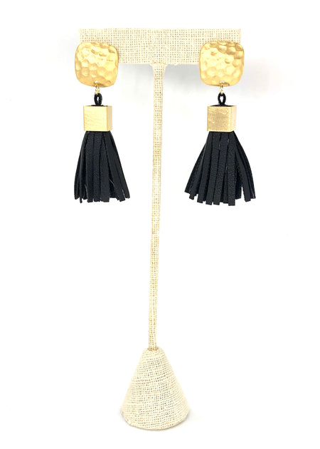 Black Fringe Dangles