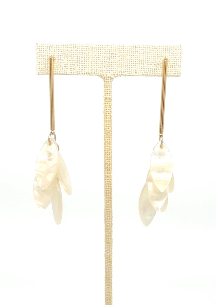 Mother of Pearl Dangle Earbobs