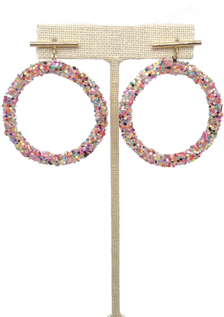 Rainbow Sparkle Hoops