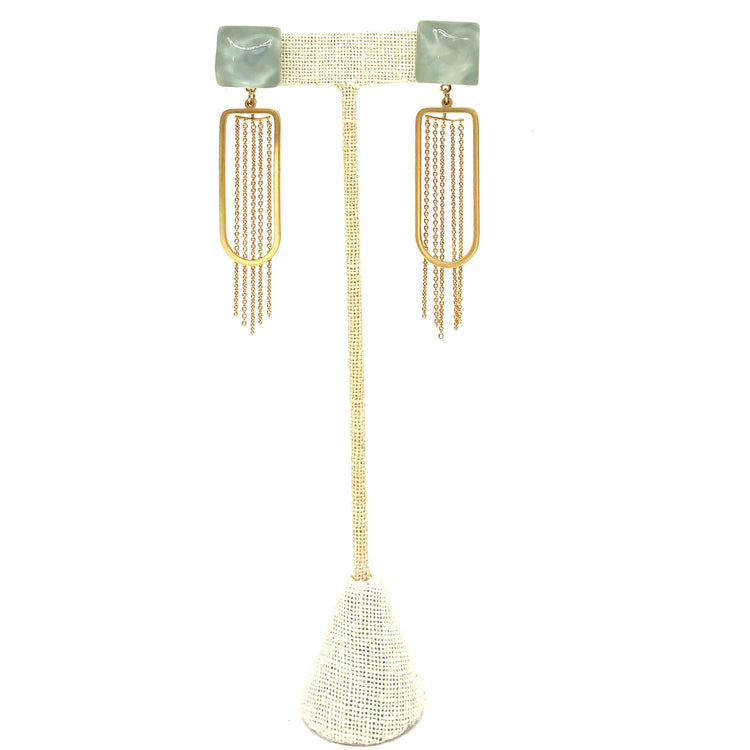 Sea Foam Square Dangle