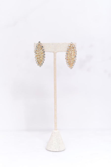 Gold Leaf Earbob
