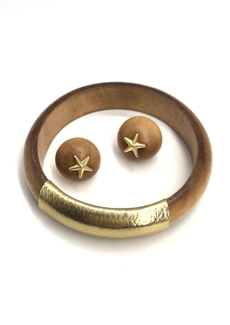 Gift Set - Blonde Bangle & Bonfire Star Studs