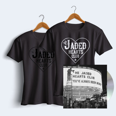 You've Always Been Here CD + Jaded Hearts Club T-Shirt