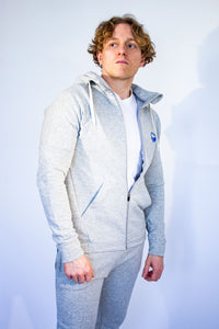Men's Synapse Hooded Top - Light Grey