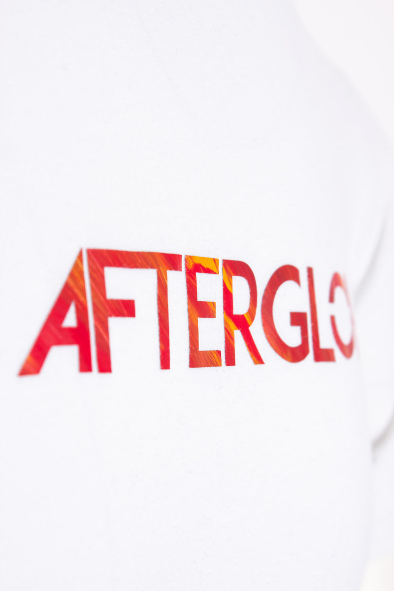 Element Tee - White with Red Fire