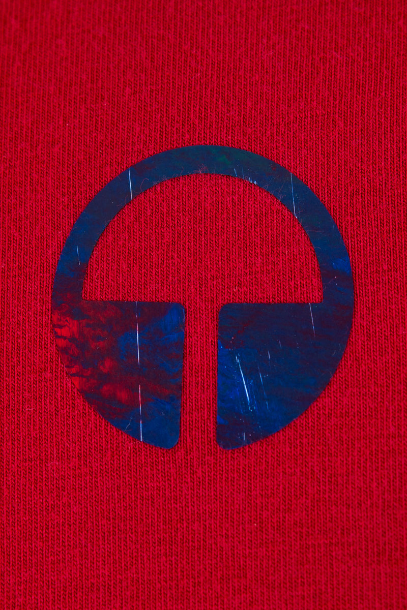 Element Tee - Red with Thunderstorm Blue