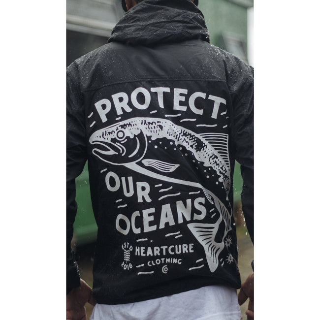 Protect Our Oceans  Rain Jacket