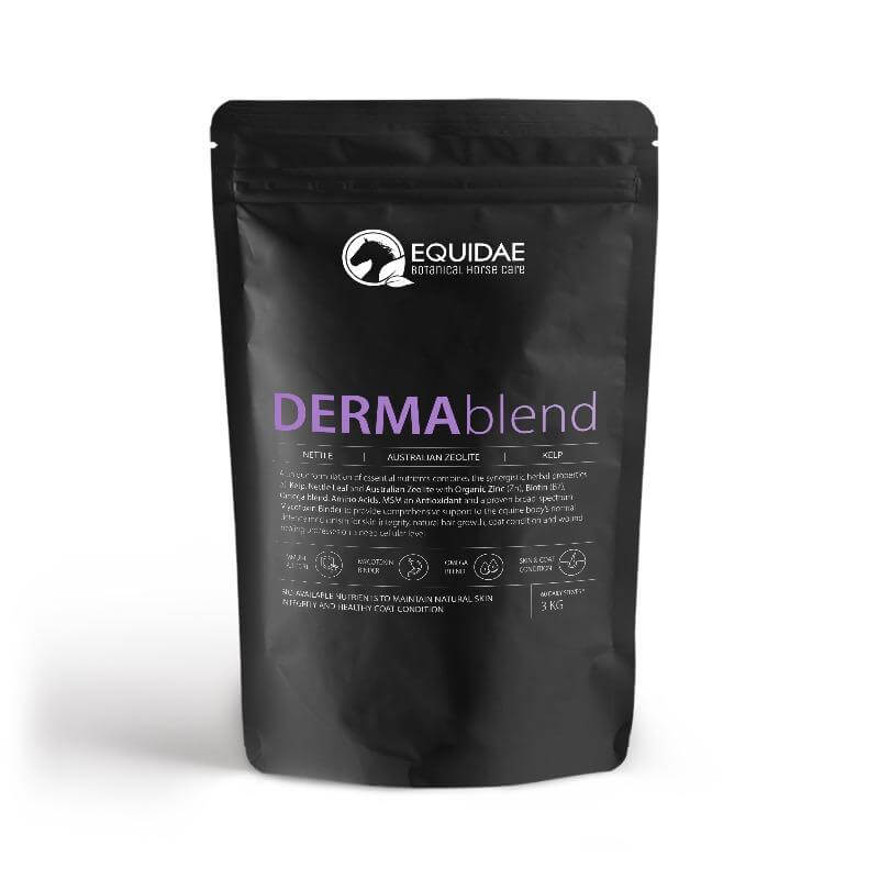 Bag of Dermaplend horse supplement specifically designed for Queensland itch treatment