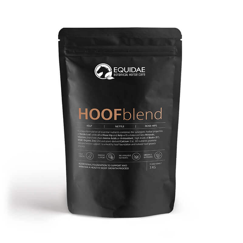 Large bag of Hoofblend horse hoof supplement infused with biotin for strong hooves