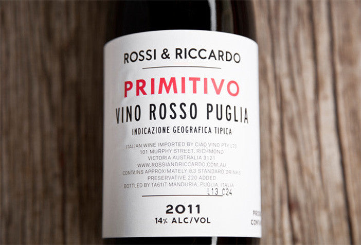 Primitivo Italian Red Wine