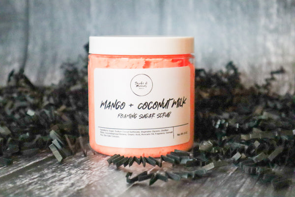 Mango + Coconut Milk Foaming Sugar Scrub