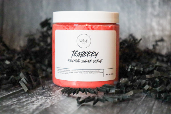 Teaberry Foaming  Sugar Scrub