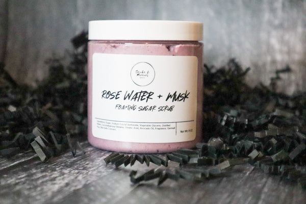 Rose Water + Musk Foaming Sugar Scrub