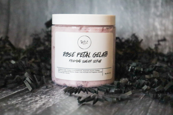 Rose Petal Gelato Foaming Sugar Scrub
