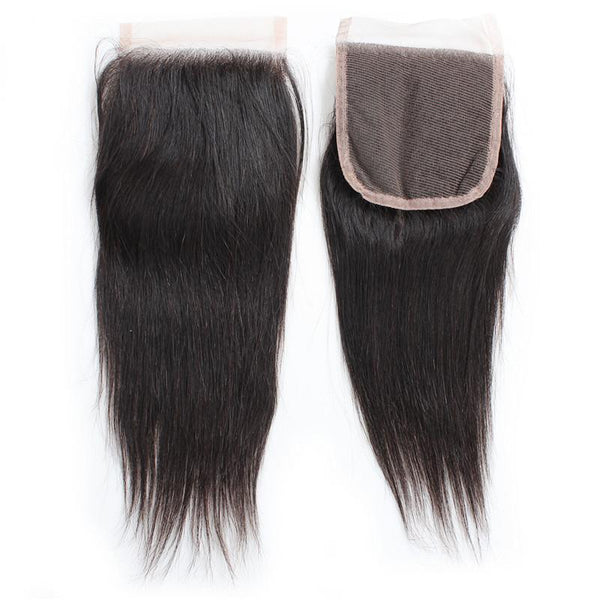 "10"" 4 x 4"" Indian Raw Human Hair Closure, straight"