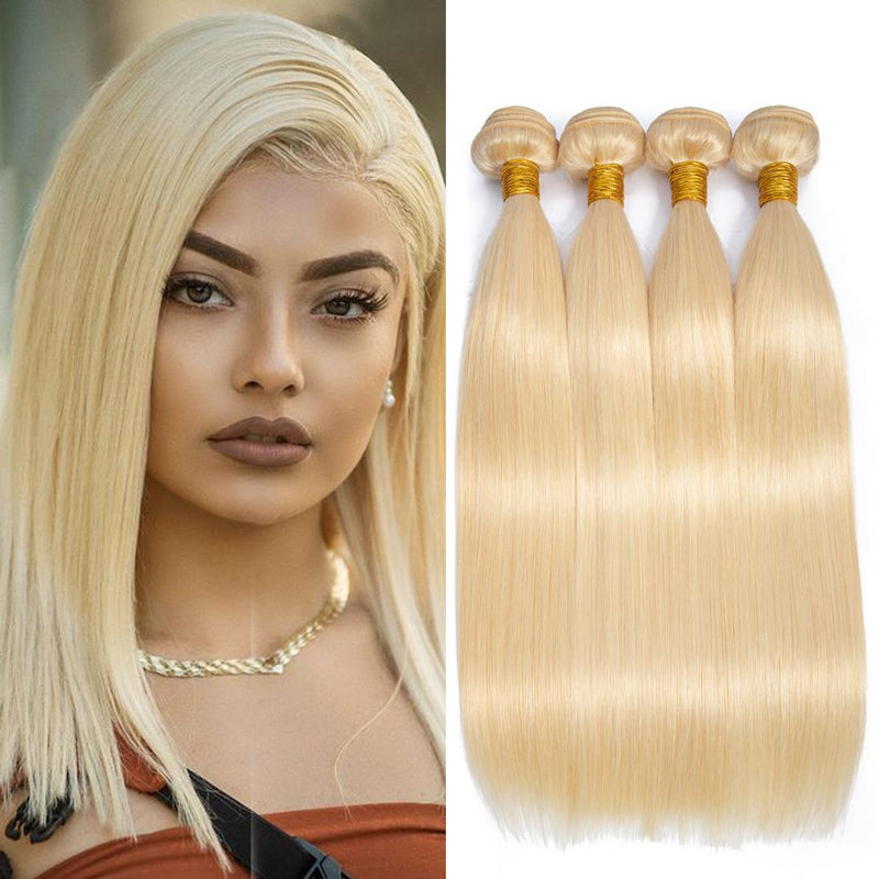"26"" Straight Double drawn (A++) Vietnamese Human Hair weft blonde color"