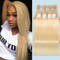 "28"" India Raw human hair weft, blonde color straight"